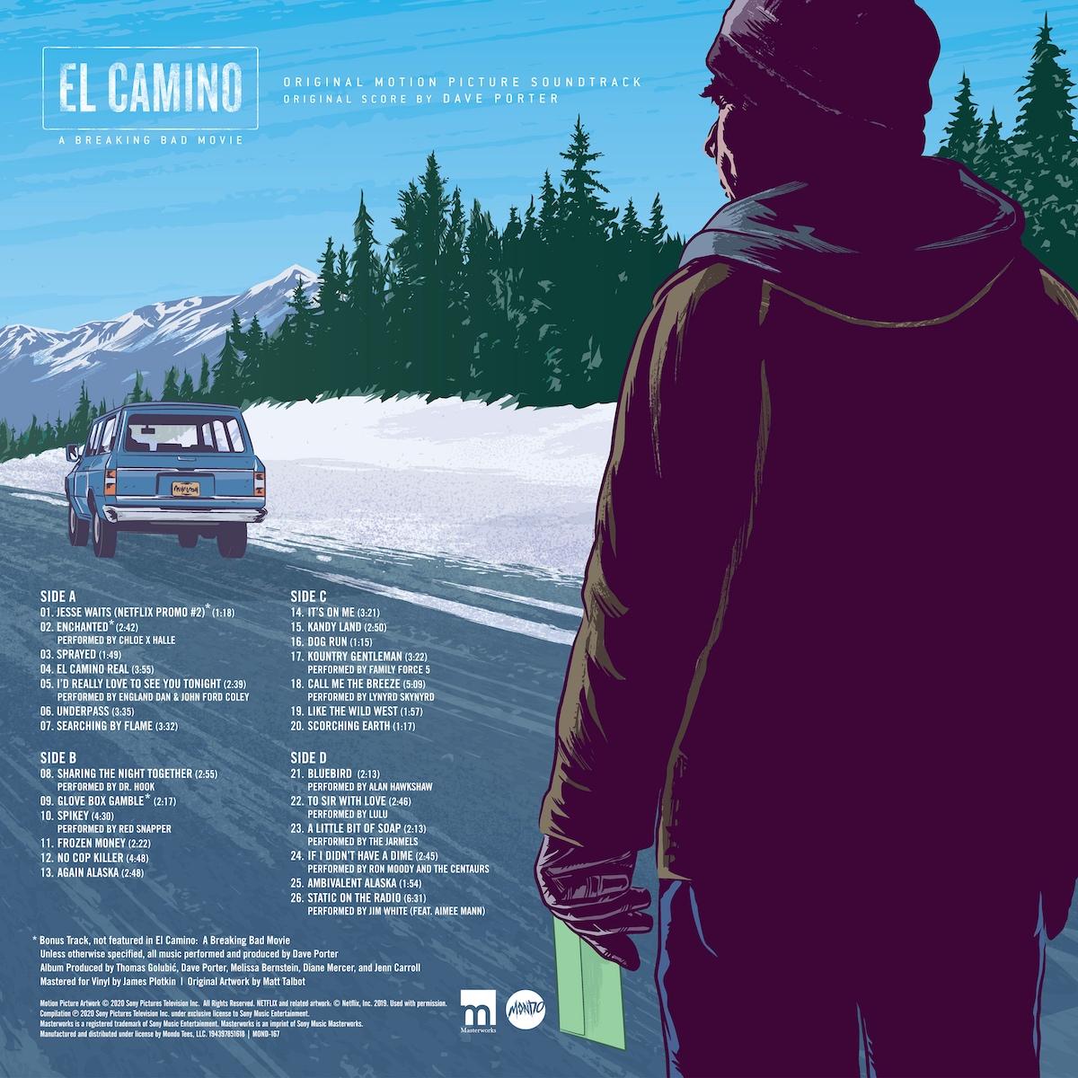 El Camino a Breaking Bad Movie soundtrack mondo vinyl back