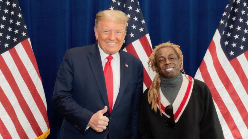 Lil Wayne with Donald Trump