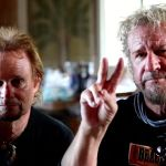 Michael Anthony and Sammy Hagar salute EVH