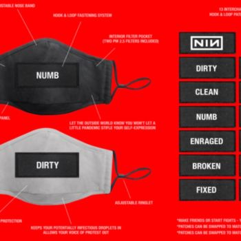 Nine Inch Nails face masks, photo courtesy of the band's Instagram