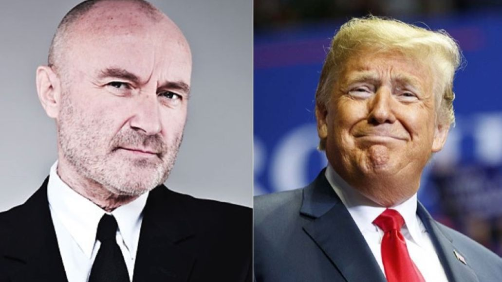 Phil Collins and Donald Trump