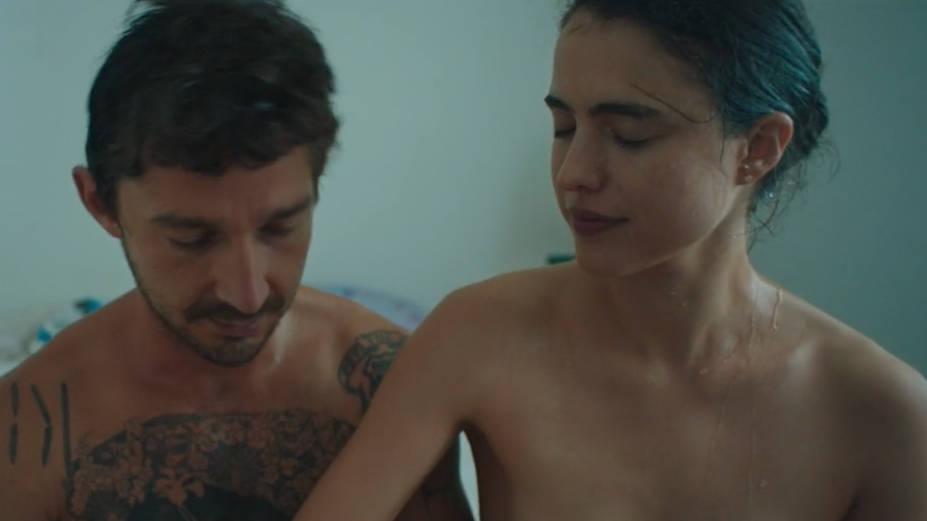 Shia LaBeouf and Margaret Qualley bare all in new music video: Watch