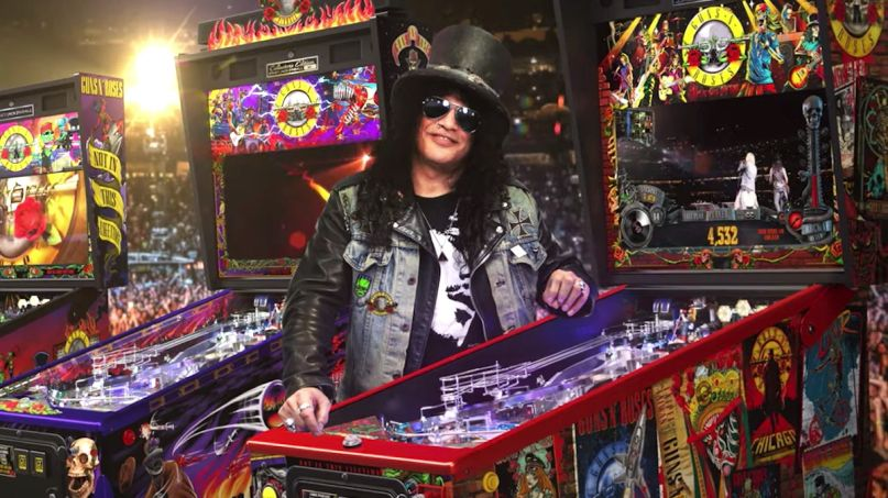 Slash with Guns N' Roses Pinball Machines