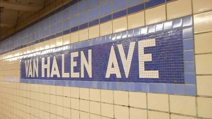 Van Halen Avenue NYC Subway