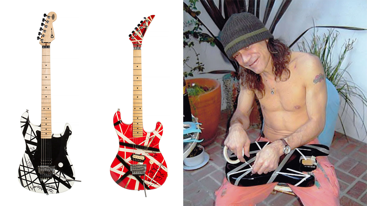 Two of Eddie Van Halen's Frankenstrat-style guitars to be auctioned