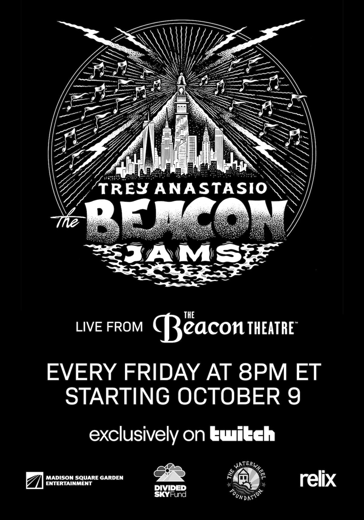 the beacon jams trey anastasio virtual residency poster