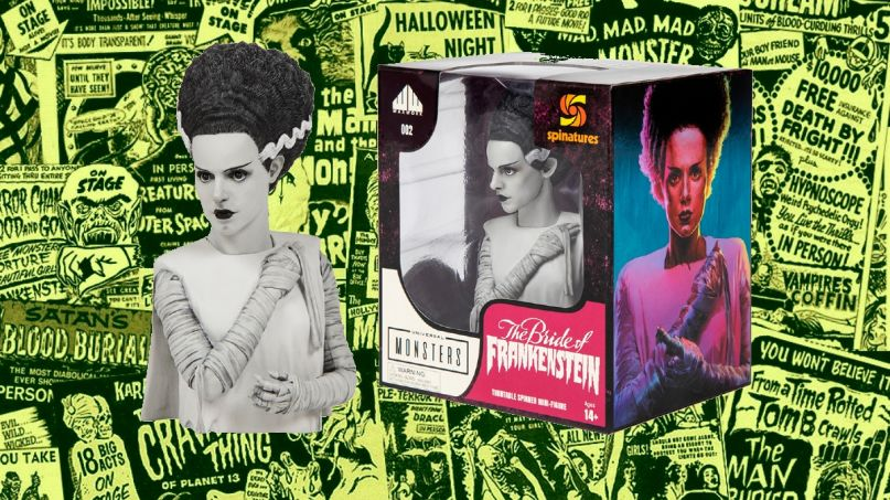 The Bride of Frankenstein Gets Waxwork Vinyl Release and New Spinature Figurine