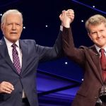 Alex Trebek with Ken Jennings