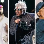 Big Boi (photo by Ben Kaye), Andre 3000 (photo by David Brendan Hall), and Chuck D (photo by Ben Kaye) Goodie Mob Survival Kit new album music stream