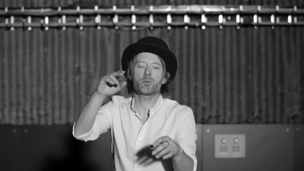 "Radiohead are auctioning off Thom Yorke's ""Lotus Flower"" hat for charity"