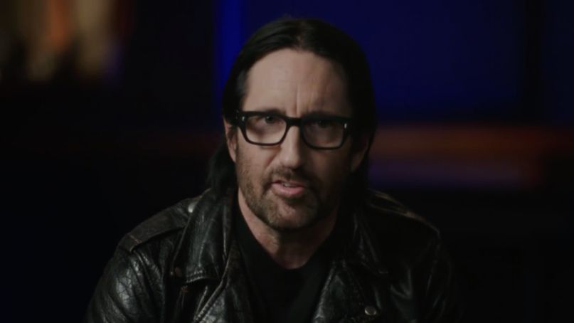 Trent Reznor accepts his induction into Rock & Roll Hall of Fame, photo via WarnerMedia
