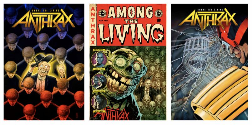 anthrax comics anthology Anthrax Announce Among the Living Graphic Novel Anthology