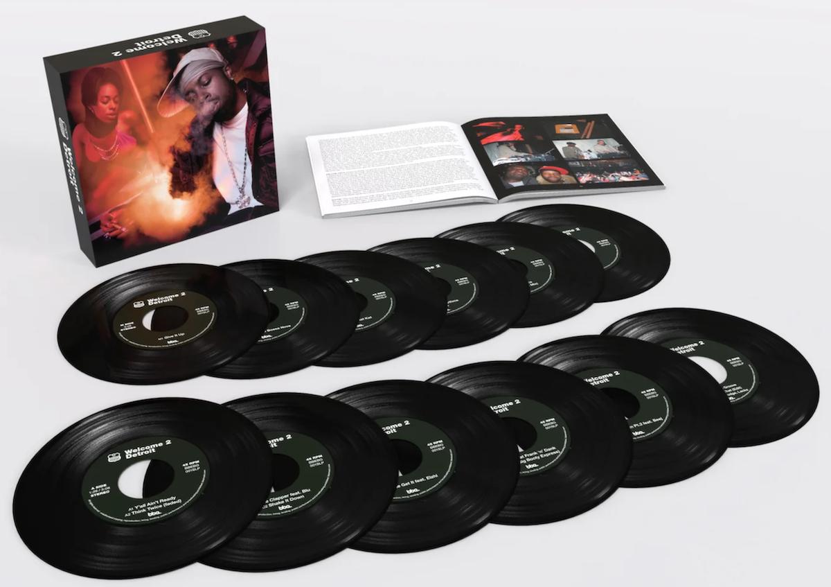 j dilla welcome 2 detroit 20th nniversary vinyl box set 7-inch cover art book full set
