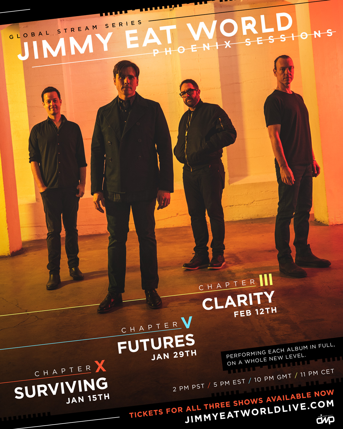 Jimmy-Eat-World-livestream full album concert surviving clairty futures