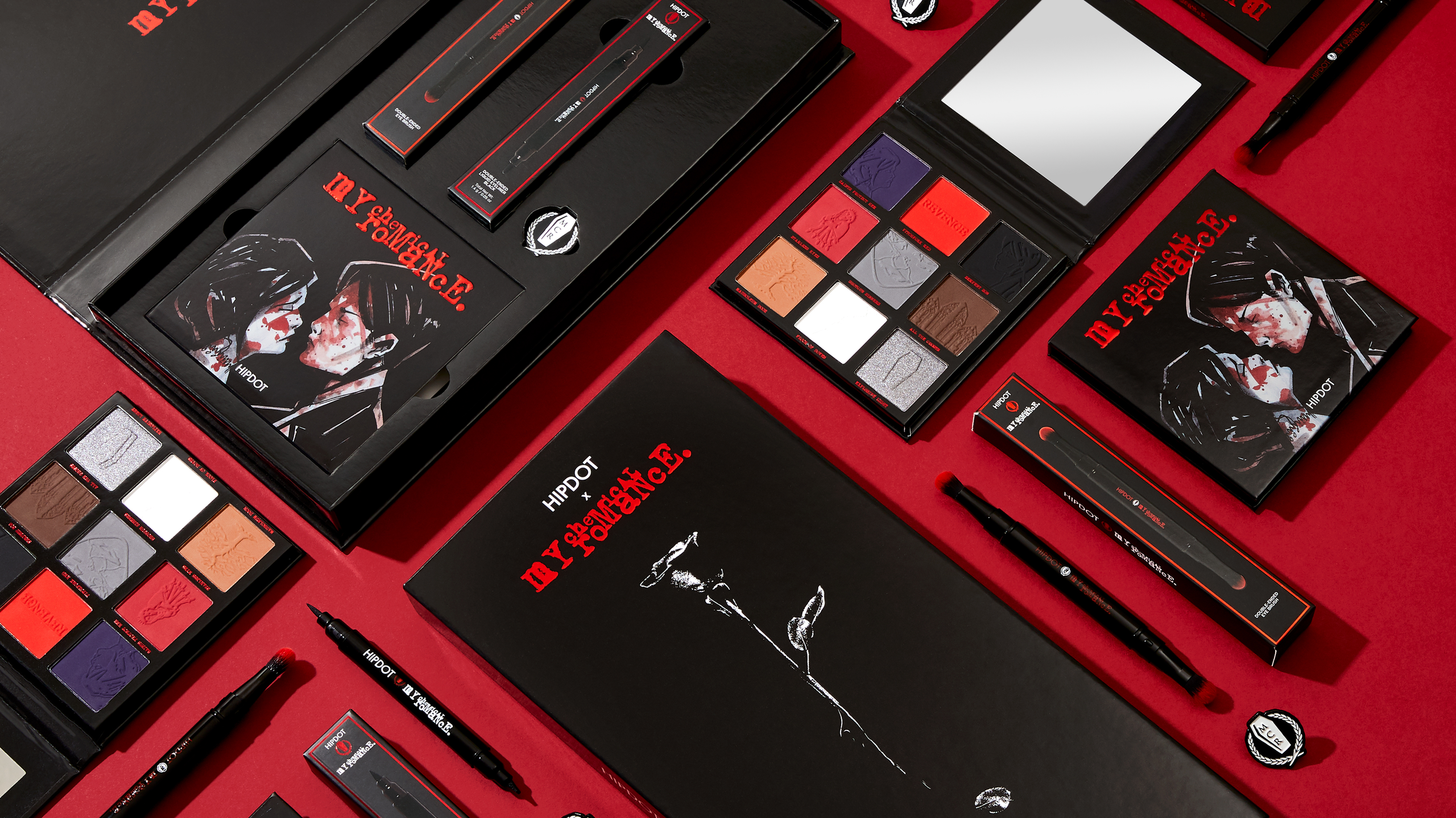 my chemical romance hipdot Three Cheers! My Chemical Romance Now Have Their Own Makeup Line