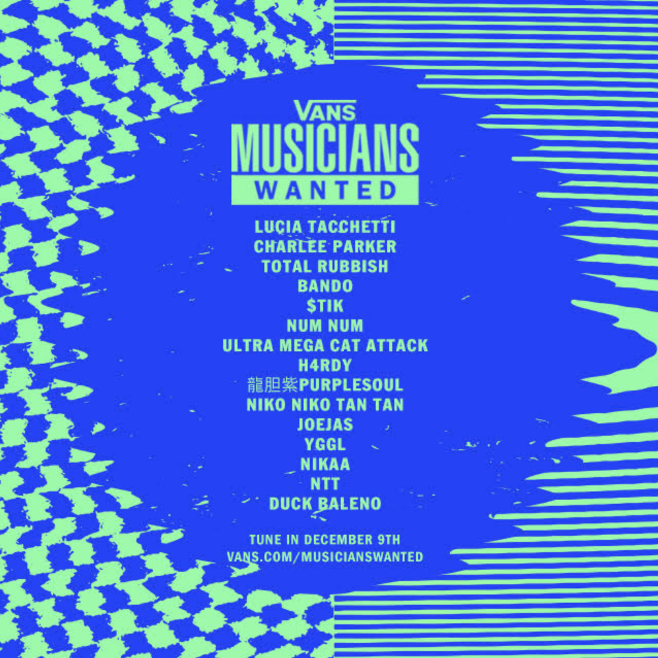vans musicianswanted finalists poster