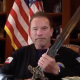 Arnold Schwarzenegger Sword Insurrection donald trump coup