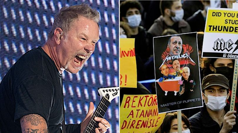 Metallica Music Istanbul Protests