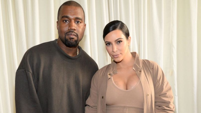 Kanye West and Kim Kardashian-West