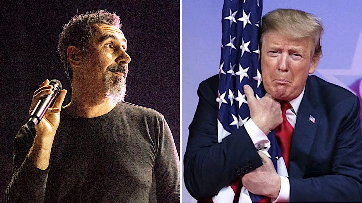 "Serj Tankian to Donald Trump: I've ""never seen a president suck so much c**k"""