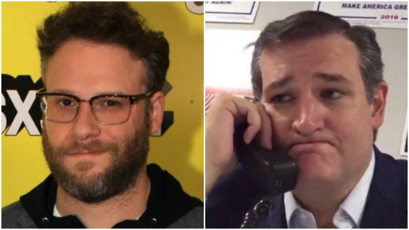 "Seth Rogen Keeps Telling ""Fascist"" Ted Cruz to ""Fuck Off"""