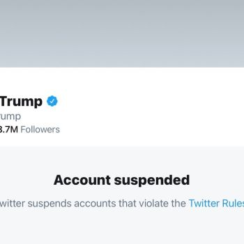 Trump Twitter account suspended