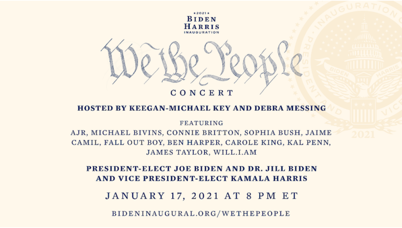 We the People concert poster Joe Biden