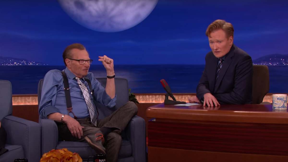 Larry King Told Conan He Wanted to Be Frozen After He Died