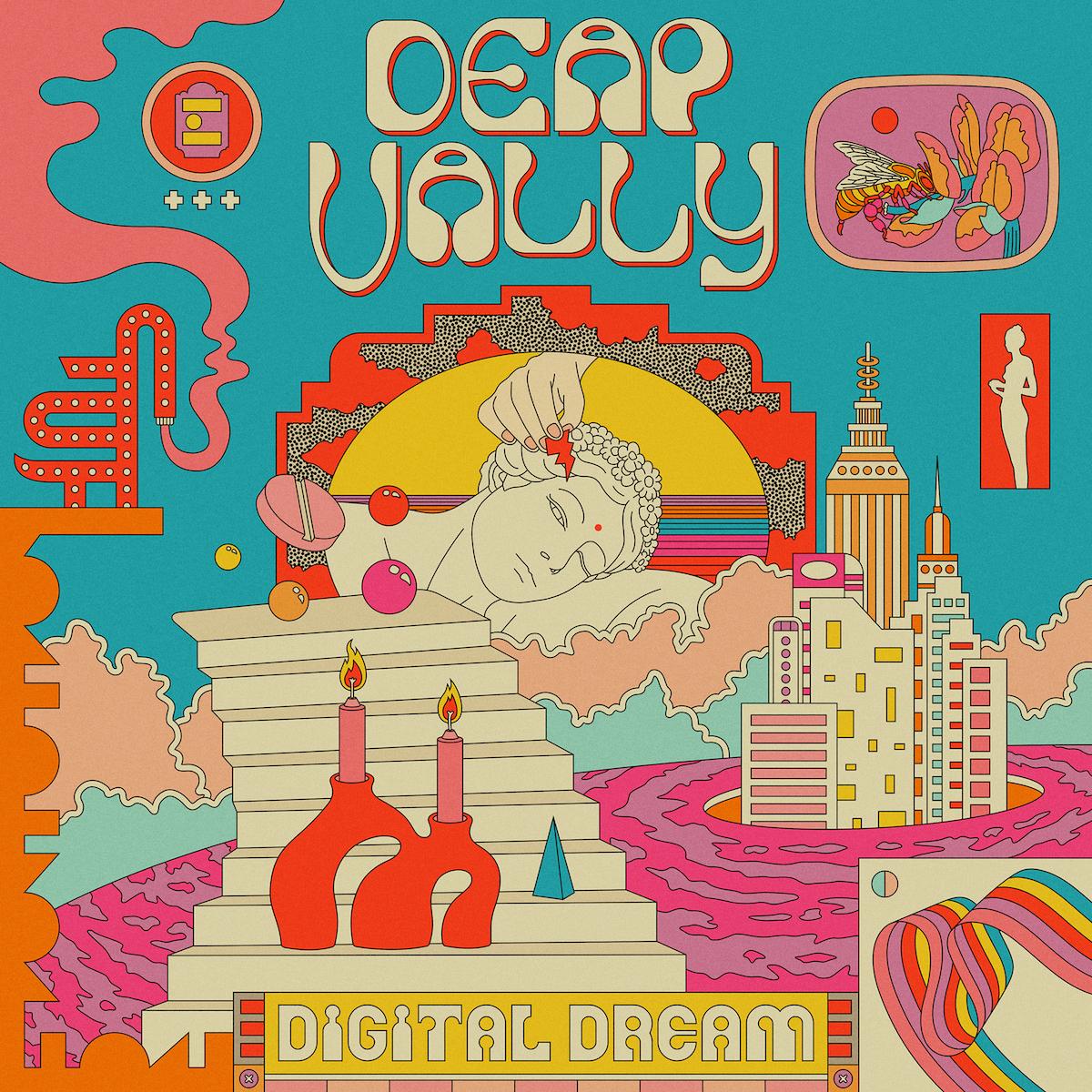 deap vally digital dream ep artwork cover Deap Vally Announce New Digital Dream EP, Share Look Away featuring Warpaints jennylee: Stream
