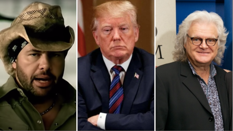 trump medal of arts toby keith ricky skaggs impeachment president