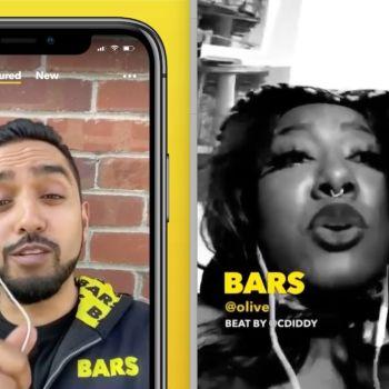 Bars app Facebook rap beats rapping hip-hop, screengrabs via Instagram/@getbarsapp
