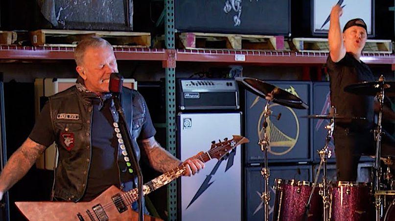 Metallica on Colbert Super Bowl