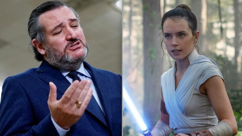 Ted Cruz Daisy Ridley diss tweet video twitter interview Disney (photo by Erin Scott)