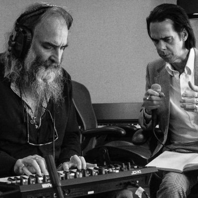 Nick Cave and Warren Ellis, photo by Joel Ryan