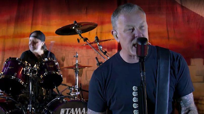 Metallica Perform Battery on Colbert